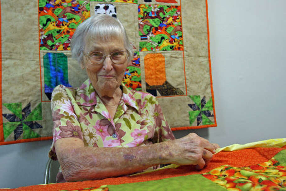 Avis Griffin, 89, of Katy was named Katy's Senior Citizen of the Year. She enjoys quilting and raising butterflies. Photo: Suzanne Rehak, For The Chronicle