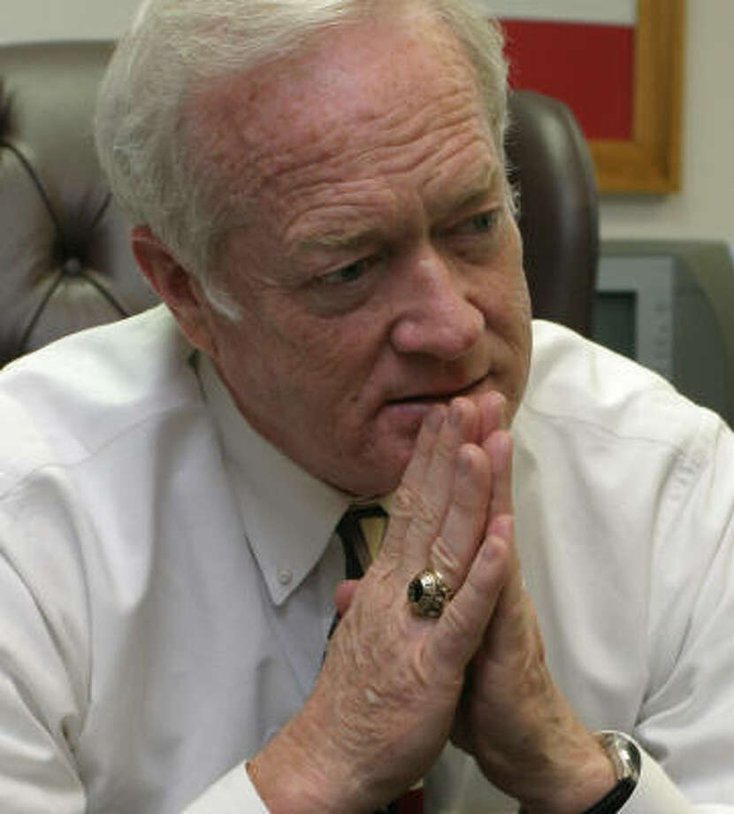 Judge Alan B. Sadler had his court date on Friday. Photo: Gary Fountain, For The Chronicle