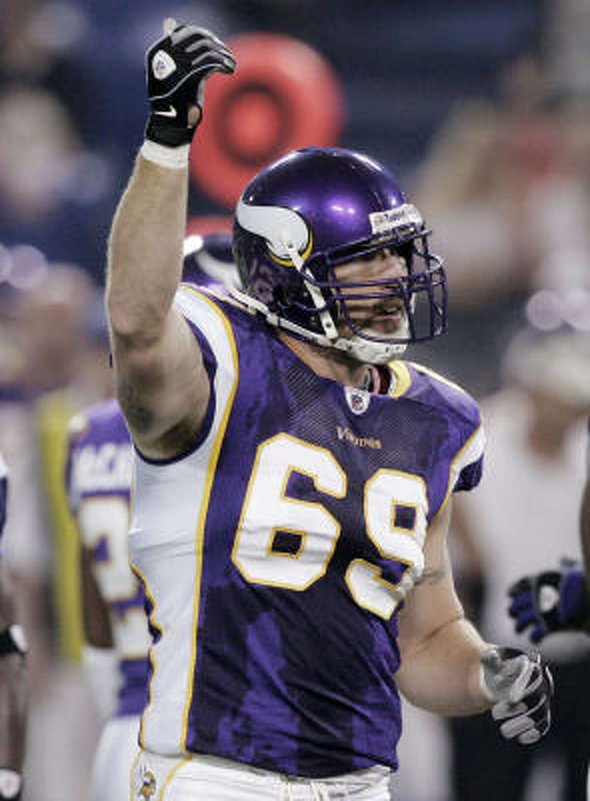Jared Allen attempted to apologize to Matt Schaub after the game, saying he was slipping when he made contact.