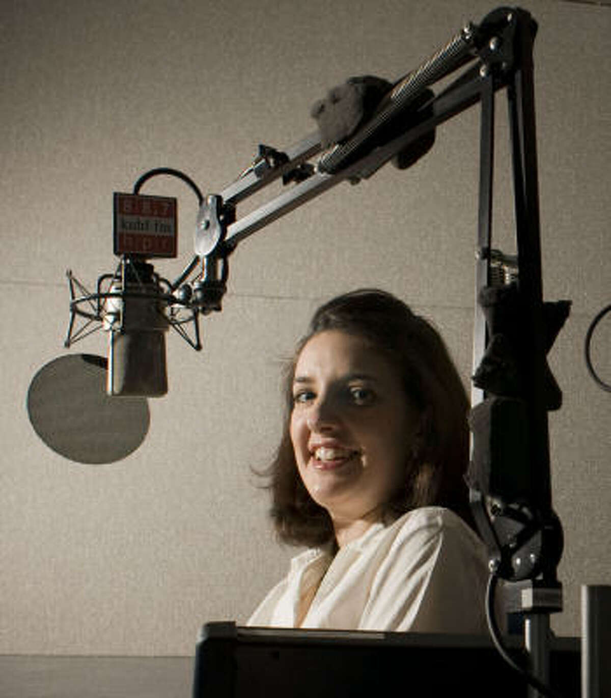 RADIO INTERNSHIP: Melissa Galvez, who started as an intern at Houston public radio station KUHF, now works there part-time.