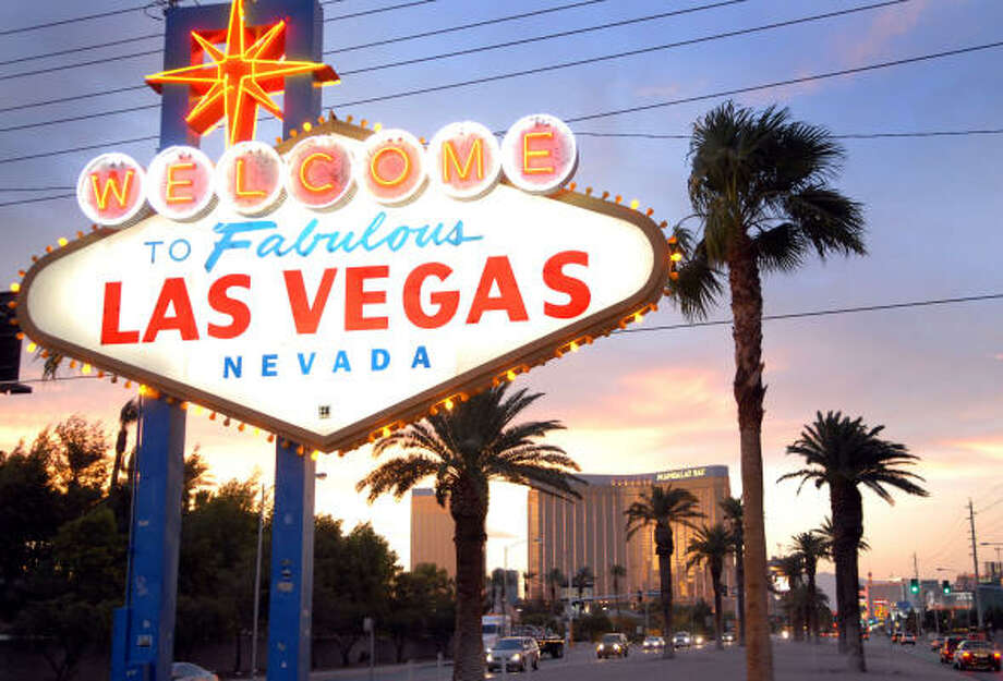 The Strip in Las Vegas, Nevada, is a top destination for bachelor parties. Photo: JACOB KEPLER, BLOOMBERG NEWS