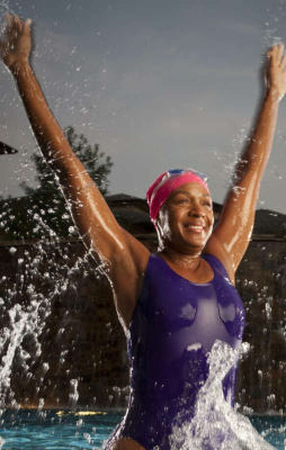 """Suzette Caldwell, associate pastor of Windsor Village United Methodist Church and an avid swimmer, says she relied on """"spiritual medication"""" and a focus on overall health in her recovery from cancer. Photo: ROBERT SEALE:, FOR THE CHRONICLE"""