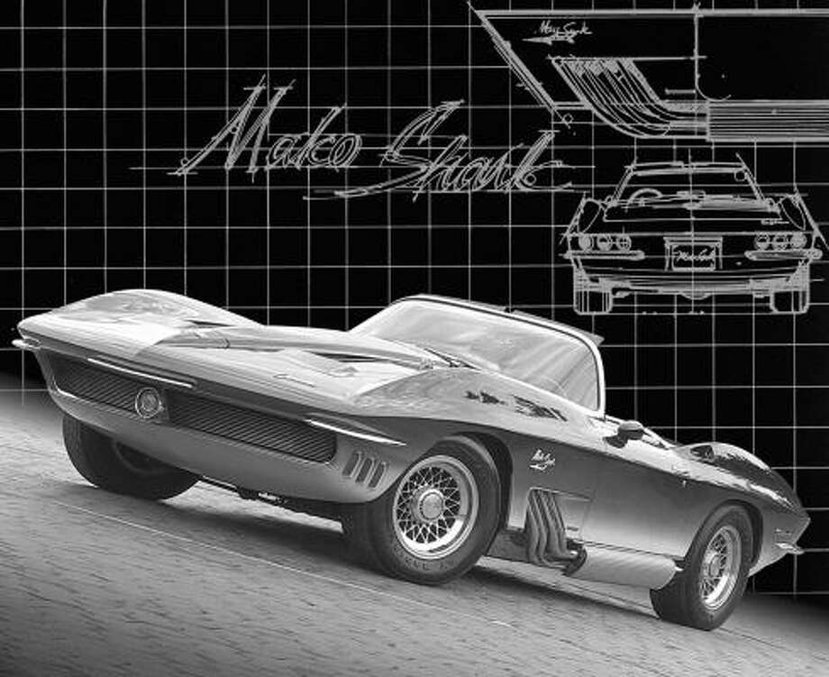 Larry Shinoda helped design this 1961 Mako Shark show car. It was an image vehicle created to promote the new 1963 Corvette Sting Ray for which Shinoda generally is given design credit. Photo: Wieck
