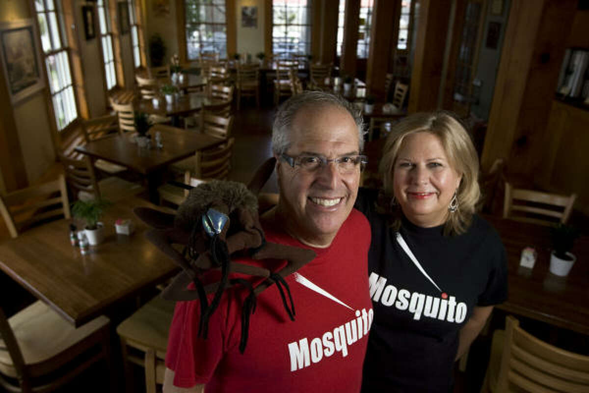 Stephen and Patricia Rennick, owners of Mosquito Cafe in Galveston, hope their business benefits from growth at UTMB.