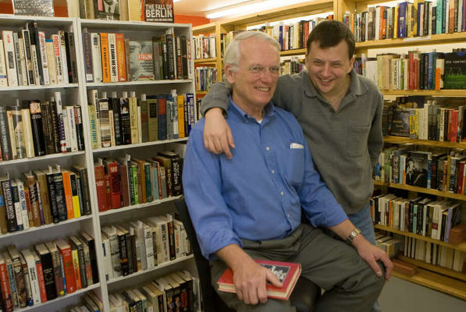 Dick Rohfritch, left, has opened Good Books in the Woods, a rare book store in the Woodlands. He runs it with his son, Jay Rohfritch. Photo: Steve Campbell, Houston Chronicle