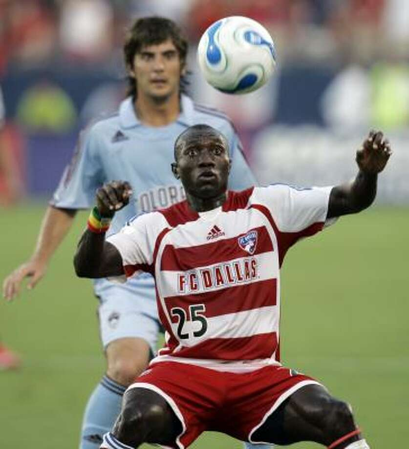 Dominic Oduro, 23, spent the three previous seasons with FC Dallas before a preseason trade sent him to the New York Red Bulls. Photo: Tony Gutierrez, AP