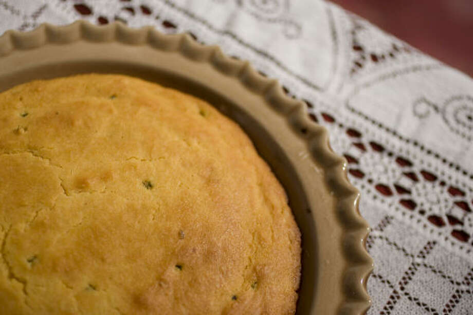 Jalepeños give Paula Deen's Mexican Cornbread a spicy kick. Photo: SHARON STEINMANN :, CHRONICLE