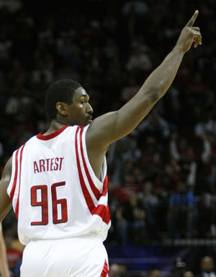 Rockets forward Ron Artest has seen his production increase since returning to the starting lineup. Photo: Brett Coomer, Houston Chronicle