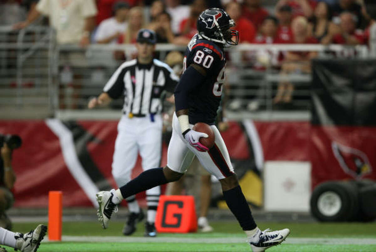 Andre Johnson leads the NFL with 634 receiving yards.