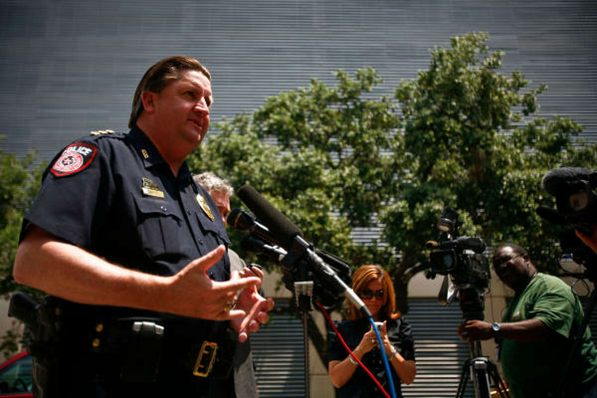 Metro Police Chief Tom Lambert talks about the shooting. A Taser was used in the confrontation.