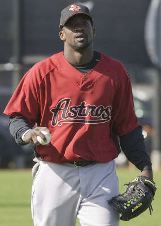 Reggie Abercrombie is the only outfielder in the upper levels of the Astros' system who has major league experience. Photo: James Nielsen, Houston Chronicle