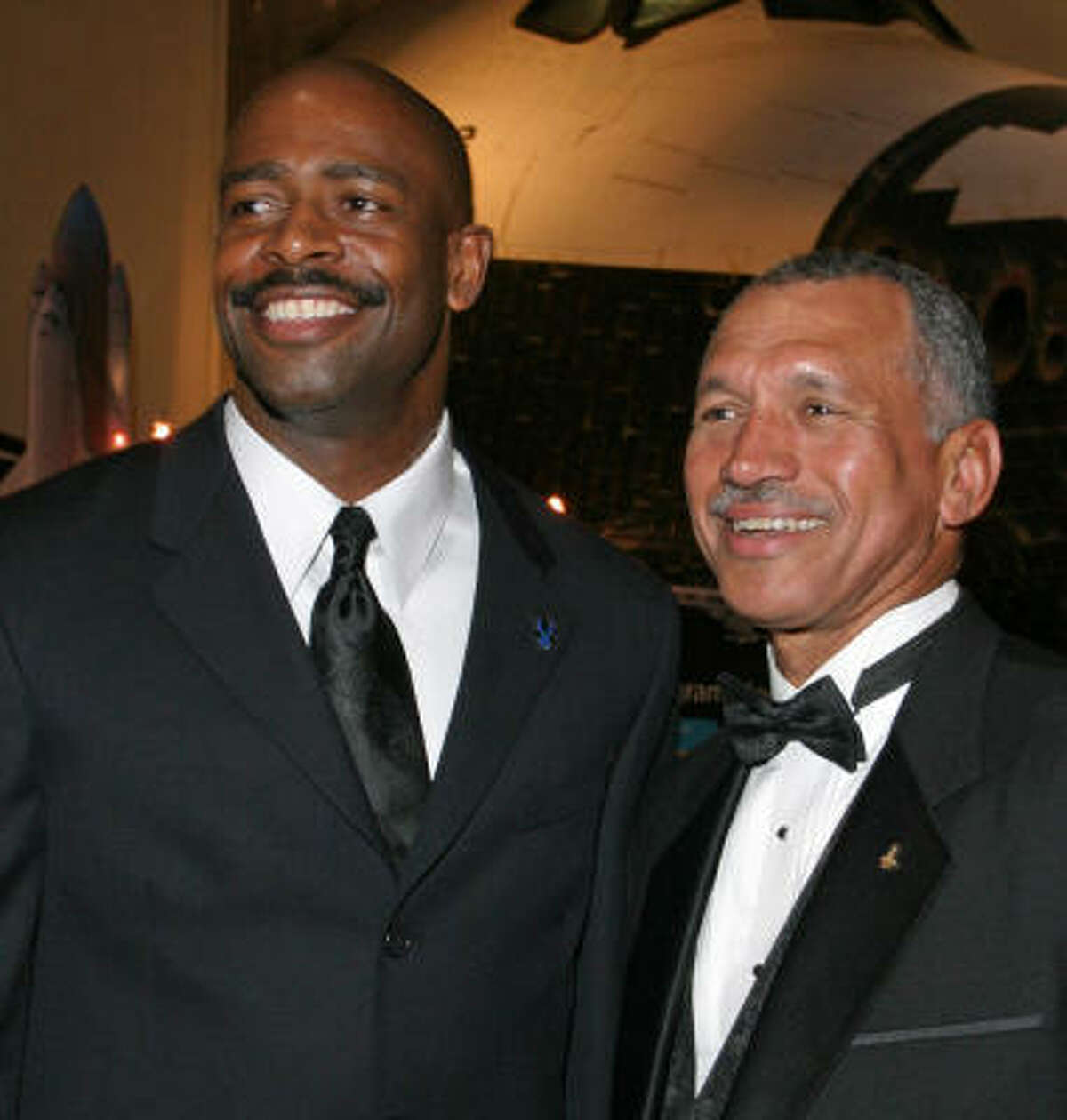 Charles F. Bolden Jr. (right) would be the first black official to head the agency.