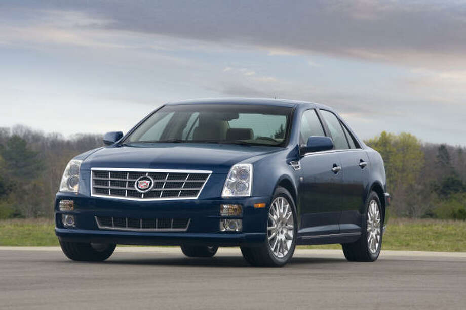 Cadillac's 2008 STS is fitted with a powerful 302-horsepower 3.6-liter V-6 featuring fuel- and emissions-efficient direct-injection technology. Photo: Wieck