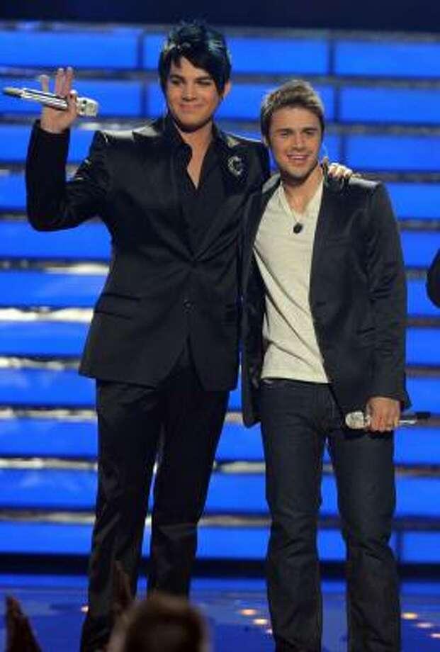 Season 8 winner Kris Allen, right, and runner-up Adam Lambert will be the star attractions this summer on the American Idol concert tour. Photo: Ray Mickshaw, FOX
