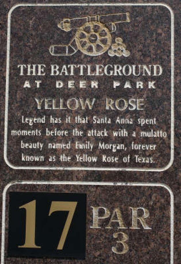 Tee Marker 17 at Battleground at Deer Park golf course in Deer Park. Photo: Sharon Steinmann, Chronicle