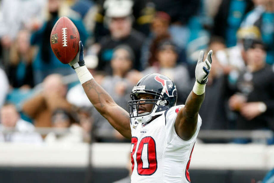 Andre Johnson might not have many familiar faces around him if he goes to the Pro Bowl as expected. Photo: Nick De La Torre, Chronicle