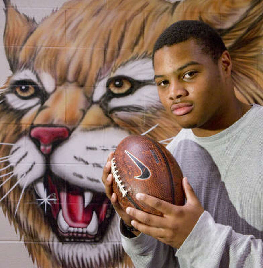 Cy Woods defensive lineman Justin Washington is committed to play for the University of Arizona. Photo: Steve Campbell, Houston Chronicle