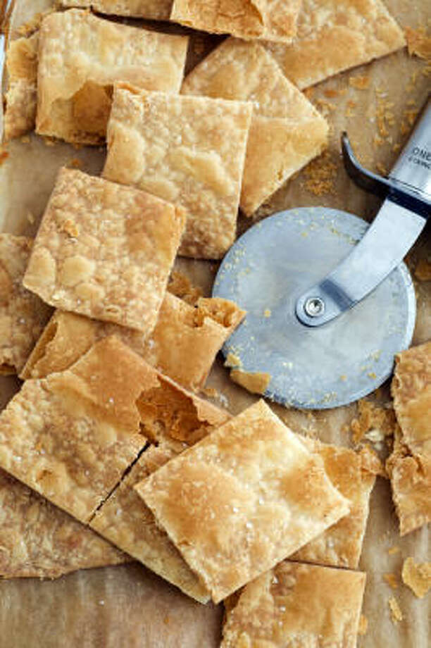 Parmesan Cream Crackers Photo: EVAN SUNG :, NEW YORK TIMES