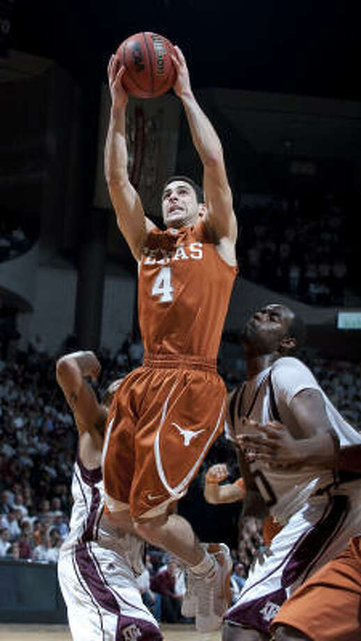 Since being inserted into the starting lineup, guard Dogus Balbay has provided a spark to the Longhorns. Photo: Wade Barker, AP