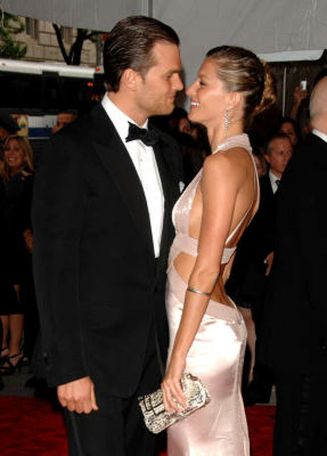In this May 5, 2008 file photo, Tom Brady and Gisele Bundchen arrive at the Metropolitan Museum of Art's Costume Institute Gala in New York. New England Patriots quarterback Brady and Brazilian supermodel Bundchen were married in a private ceremony Thursday at a Catholic church in Santa Monica, Calif., according to reports. Photo: Peter Kramer, AP