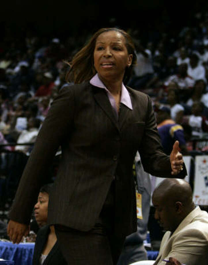 Prairie View coach Cynthia Cooper-Dyke has led the Lady Panthers to the NCAA Tournament in two of the last three seasons. Photo: Butch Dill, AP