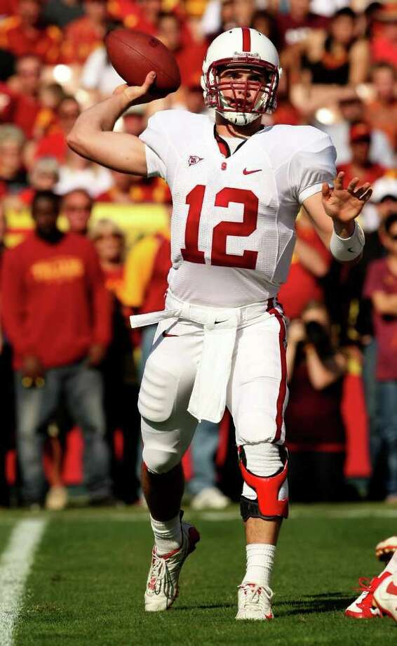 LOS ANGELES - NOVEMBER 14:  Quarterback Andrew Luck #12 of the Stanford Cardinal throws a pass against the USC Trojans on November 14, 2009 at the Los Angeles Coliseum in Los Angeles, California.    (Photo by Stephen Dunn/Getty Images) Photo: Stephen Dunn, Staff / Getty Images North America
