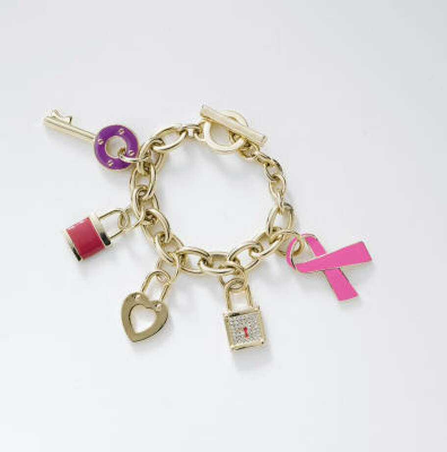 The Breast Cancer Research Foundation gets $5 from the sale of each $15 pink ribbon bracelet at Palais Royal stores. Photo: STAGE STORES