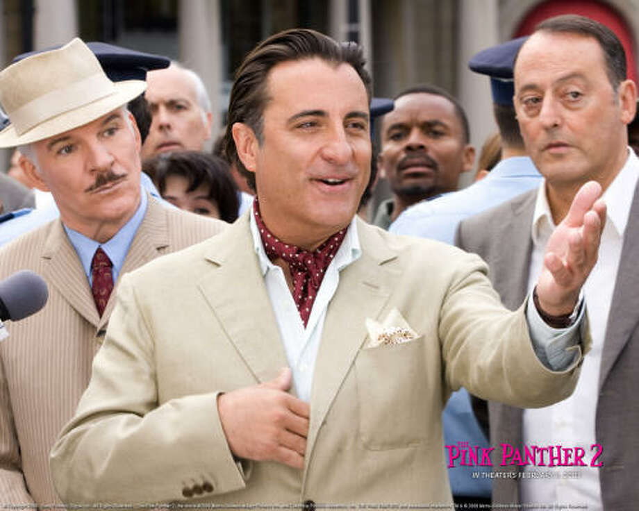 En The Pink Panther 2, Andy García interpreta al detective italiano Vicenzo. Photo: MGM Columbia Pictures