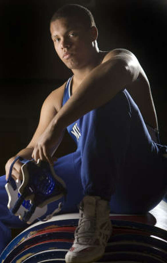 Katy Taylor junior Nico Carlson takes a 39-0 record into the state meet this weekend. Photo: Brett Coomer, Chronicle