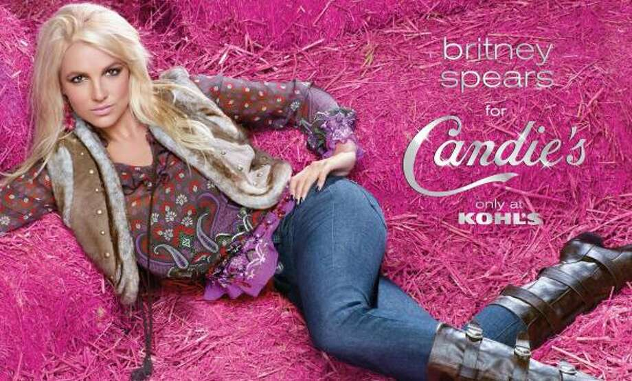 Britney Spears poses for a Candie's brand ad, which was criticized as being re-touched. Photo: PR NEWSWIRE