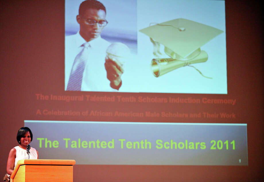 Councilwoman Ivy R. Taylor speaks during the Talented Tenth Scholars induction ceremony. Photo: EDWARD A. ORNELAS/eaornelas@express-news.net / © SAN ANTONIO EXPRESS-NEWS (NFS)