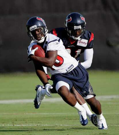 Houston Texans wide receiver Trindon Holliday (16) during the first day of their NFL football training camp Monday, Aug. 1, 2011, in Houston. (AP Photo/David J. Phillip) Photo: David J. Phillip/Associated Press