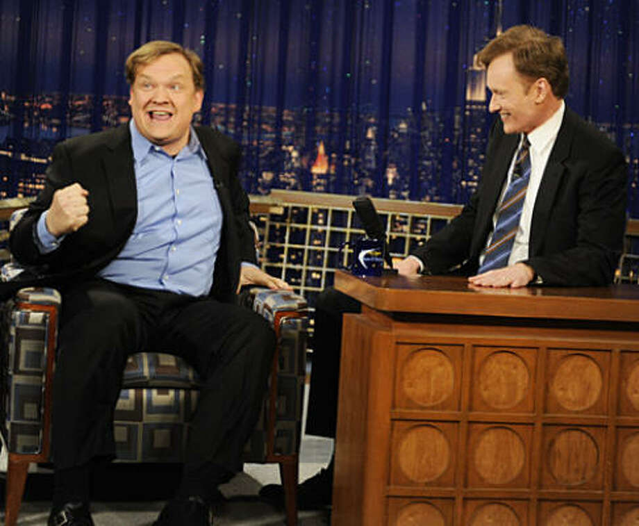 "Feb. 20: When Conan O'Brien replaced David Letterman on NBC's Late Night show, no one thought it would last. This gangly red-headed television writer was deemed to weird, too unknown to possibly helm the late-night show made so popular by Letterman. And sure enough, Conan was replaced -- some 16 years later when he left to take over the biggest prize in late night television: The Tonight Show. On this, his final episode as host of Late Night, Conan O'Brien released Abe Vigoda into the ""wild,"" was joined by former sidekick Andy Richter to watch clips from the series' history, and was serenaded by the White Stripes, one of his favorite acts. Photo: NBC"