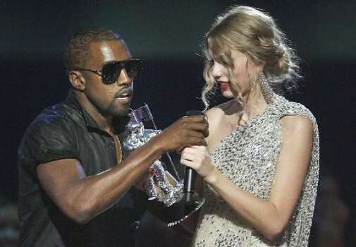Sept. 13: YO, TAYLOR, I'M REALLY HAPPY FOR YOU, I'MA LET YOU FINISH, BUT BEYONCE HAD ONE OF THE BEST VIDEOS OF ALL TIME. And with that, Kayne West became pop-culture's newest villain, Taylor Swift became a pop-culture princess and an Internet meme was born. Photo: Associated Press