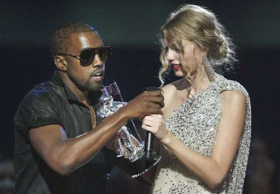 Sept. 13:YO, TAYLOR, I'M REALLY HAPPY FOR YOU, I'MA LET YOU FINISH, BUT BEYONCE HAD ONE OF THE BEST VIDEOS OF ALL TIME. And with that, Kayne West became pop-culture's newest villain, Taylor Swift became a pop-culture princess and an Internet meme was born. Photo: Associated Press