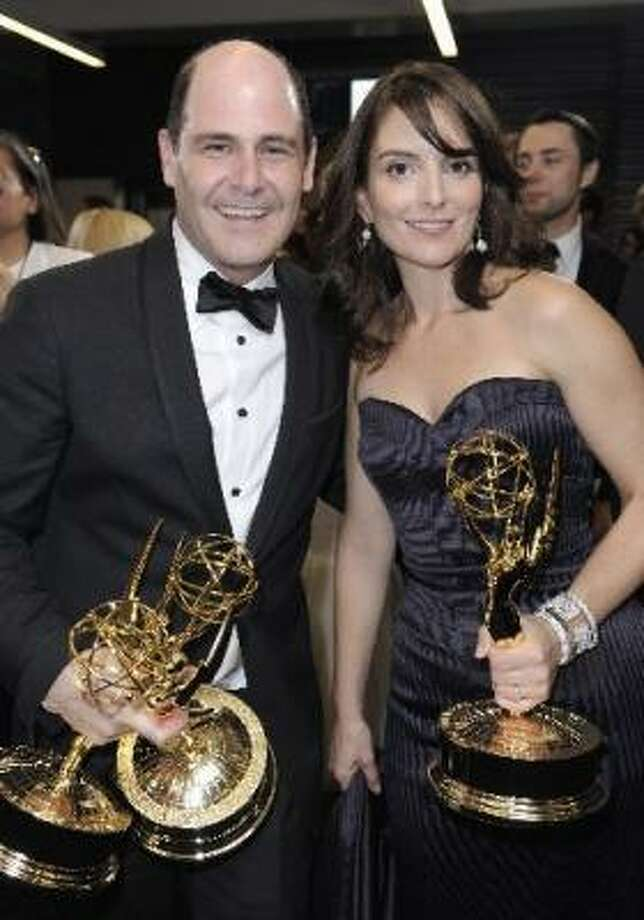 Sept. 20:Mad Menwins Outstanding Drama Series and 30 Rock wins Outstanding Comedy Series at the 61st Prime Time Emmys, shocking no one. Photo: Associated Press