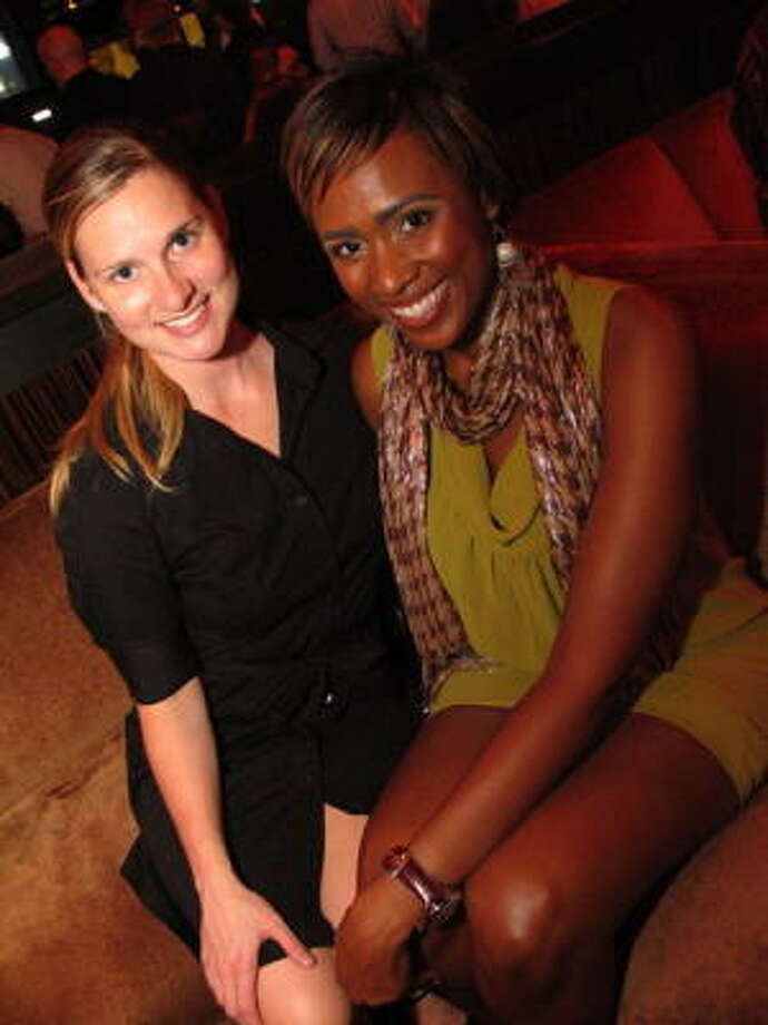 Karen Osborn Stewart, left, and Shavonnah Roberts at Lucky Strikes. Photo: Jordan Graber, For The Chronicle