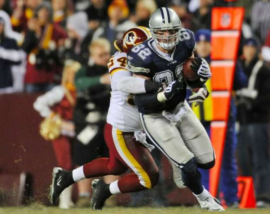 Dec. 27: Cowboys 17, Redskins 0 Cowboys tight end Jason Witten had six receptions for 117 yards. Photo: Larry French, Getty Images