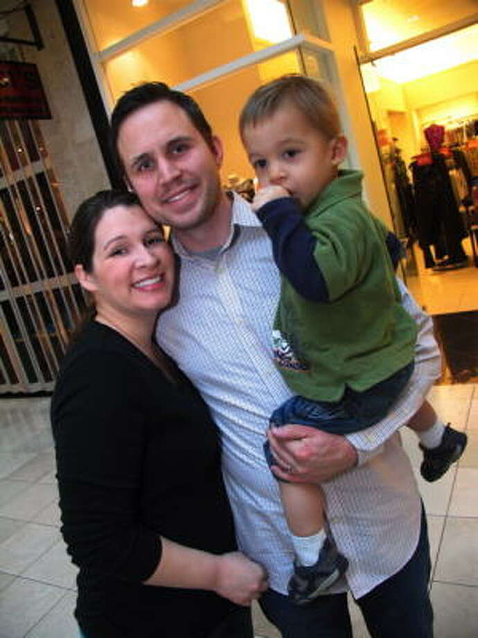 In true holiday spirit, Seensters hit area malls this week to see all the little ones that were standing in line to give Santa their Christmas wish list.   Pictured: Alexandra and Andrew Torget with their son AntonioKnow of a hot spot you think Seensters should go to next? E-mail your idea to seensters@chron.com. Photo: Jordan Graber, For The Chronicle