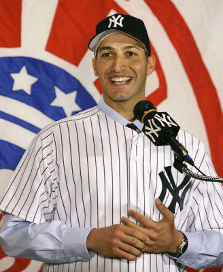 So long, AndyWhen Astros owner failed to offer pitcher Andy Pettitte a two-year contract after the 2005 season, the Deer Park native returned to the Yankees. The Astros haven't made the playoffs since; Pettitte helped the Yankees win the 2009 World Series. Photo: Kathy Willens, AP