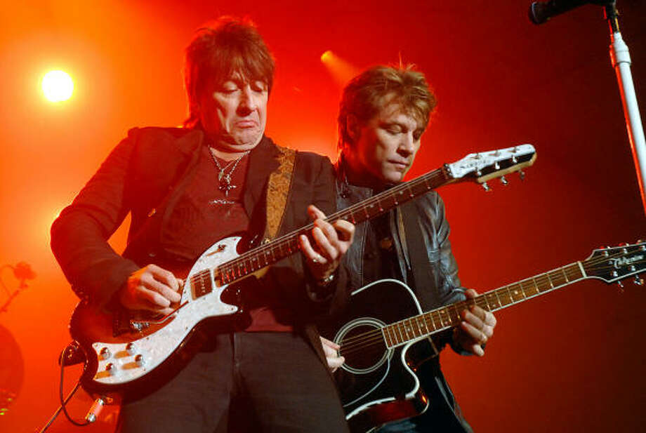 Richie Sambora and Jon Bon Jovi perform at the Lanier Law Firm's 2009 Christmas Cheer & Charity Party. Photo: Dave Rossman, For The Chronicle