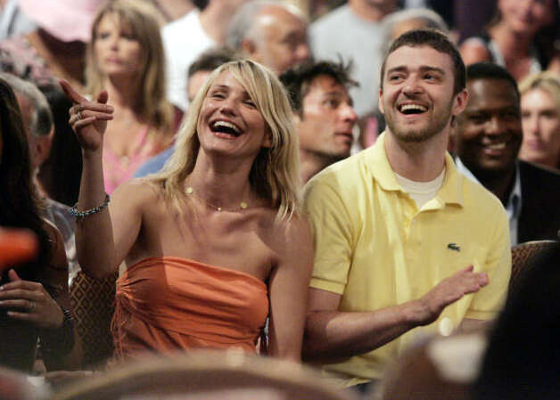 Cameron Diaz and Justin Timberlake - They surfed together and laughed together, but after 3 and a half years, it was over. Photo: DANNY MOLOSHOK, AP