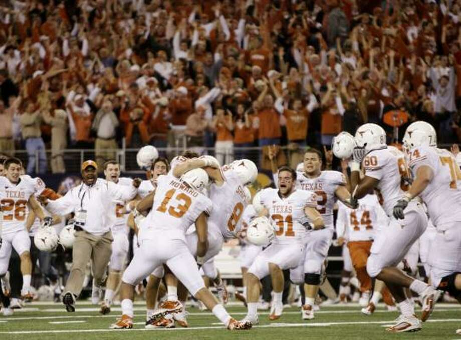 WORTH THE PRICE OF ADMISSIONBCS national title game: Jan 7, Texas vs. AlabamaThe Longhorns look for a repeat of last time the title game was in Pasadena, Calif. The Tide go for their first title under the BCS format. Photo: Jamie Squire, Getty Images