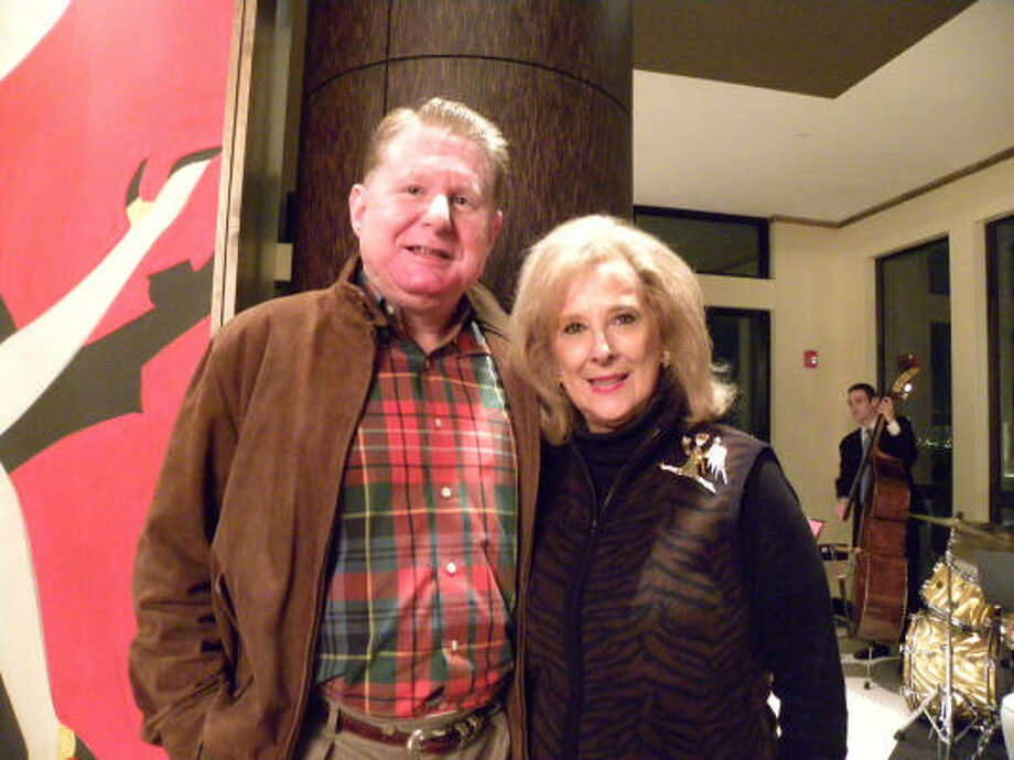 Tom Becker and Mary Ann McKeithan, co-vice presidents of special events, at the Partnership for Baylor College of Medicine's Holiday Fiesta at Gables West Ave. Photo: Douglas Britt, Chronicle