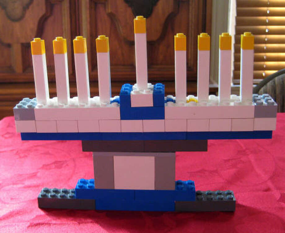 Menorahs, also called hanukkiahs, are typically metal or glass, but can be made of nearly anything… even Legos. Photo: Sarah Kate McGowan
