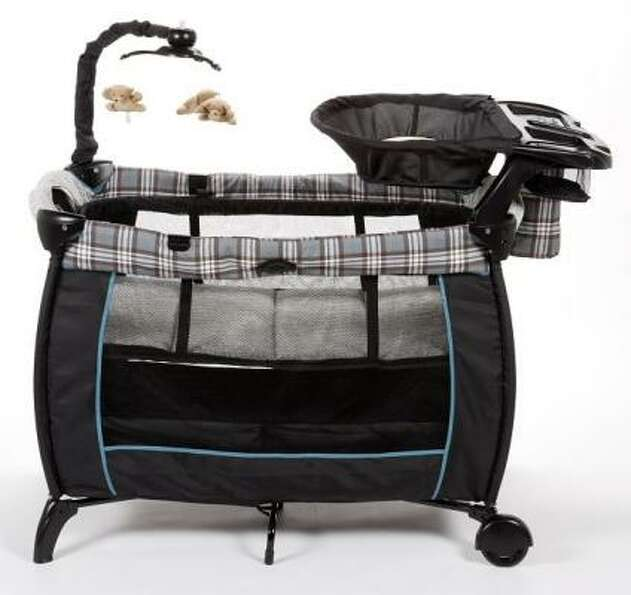 Name of Product: Eddie Bauer Soothe & Sway Play Yards Hazard: