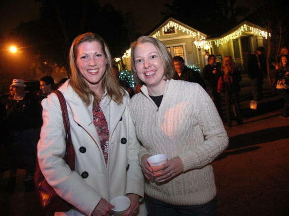 The annual Lights in the Heights celebration transformed a normal evening into an illuminated street party that took over the Woodland Heights. Pictured: Jennifer Margerin, left, and Desiree Barr  Know of a hot spot you think Seensters should go to next? E-mail your idea to seensters@chron.com. Photo: Jordan Graber, For The Chronicle