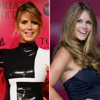 """Heidi Klum vs. Elle Macpherson: In '80s you couldn't open a magazine without seeing Elle Macpherson. People magazine named her """"the body"""" in 1986. In 2006, Heidi Klum appeared in Victoria's Secret ads in the body bra and claimed that it was named after her."""
