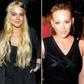 Lindsay Lohan vs. Hilary Duff: The child stars both hooked up with singer Aaron Carter. Lindsay was there first in 2002, then she heard he was also seeing Hilary. The feud continued through 2004, when Hilary was dating Chad Michael Murray and Lindsay decided to call him and bad mouth Hilary.