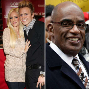 """Heidi Montag and Spencer Pratt vs. Al Roker: The reality duo Heidi and Spencer were interviewed by Al Roker on the Today show. They began acting up like they always do and Al called them out on it, asking if they're proud of their behavior. Heidi claims she cried afterward, but Spencer said that since he found Jesus he'll forgive Al. Al tweeted: """"Bad and vacuous behavior. I think we're at minute 11 of their 15."""""""